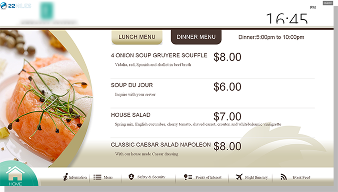 Interactive Digital Menu