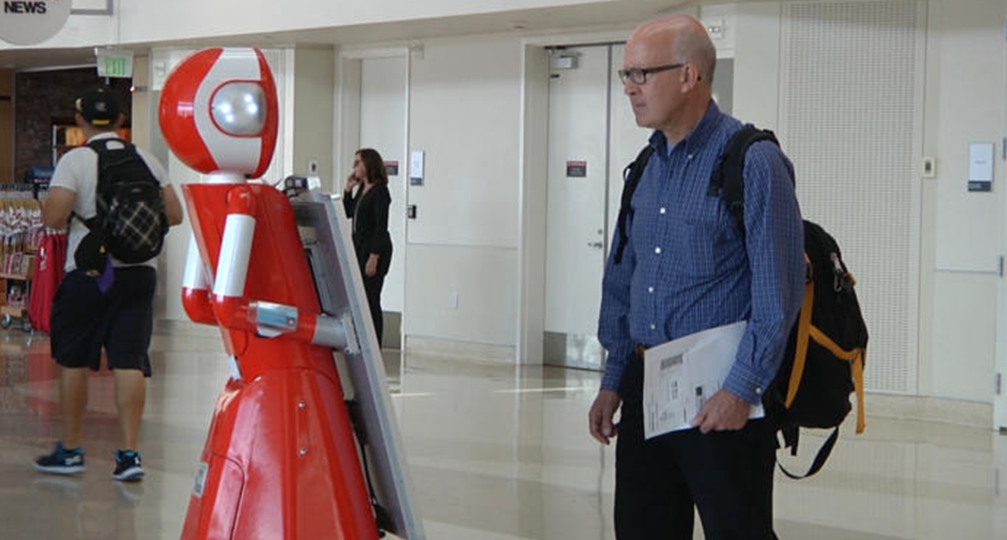 Three customer service robots land in San Jose airport