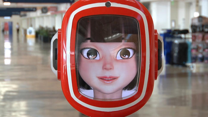 South Korean manufacturer, Future Robot, gave the assistants their iconic anime looks.