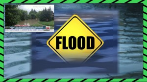 Flood emergency slide -with TV