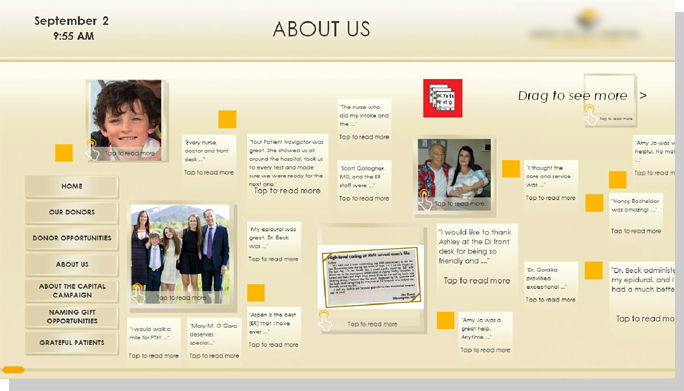 Digital donor- Campaign & Giving Displays