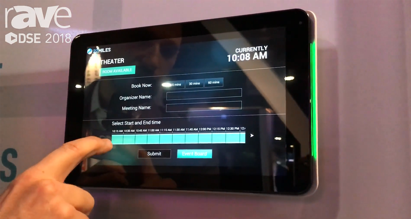 22MILES Wayfinding Demos Its Room Booking Touch Screen Solution