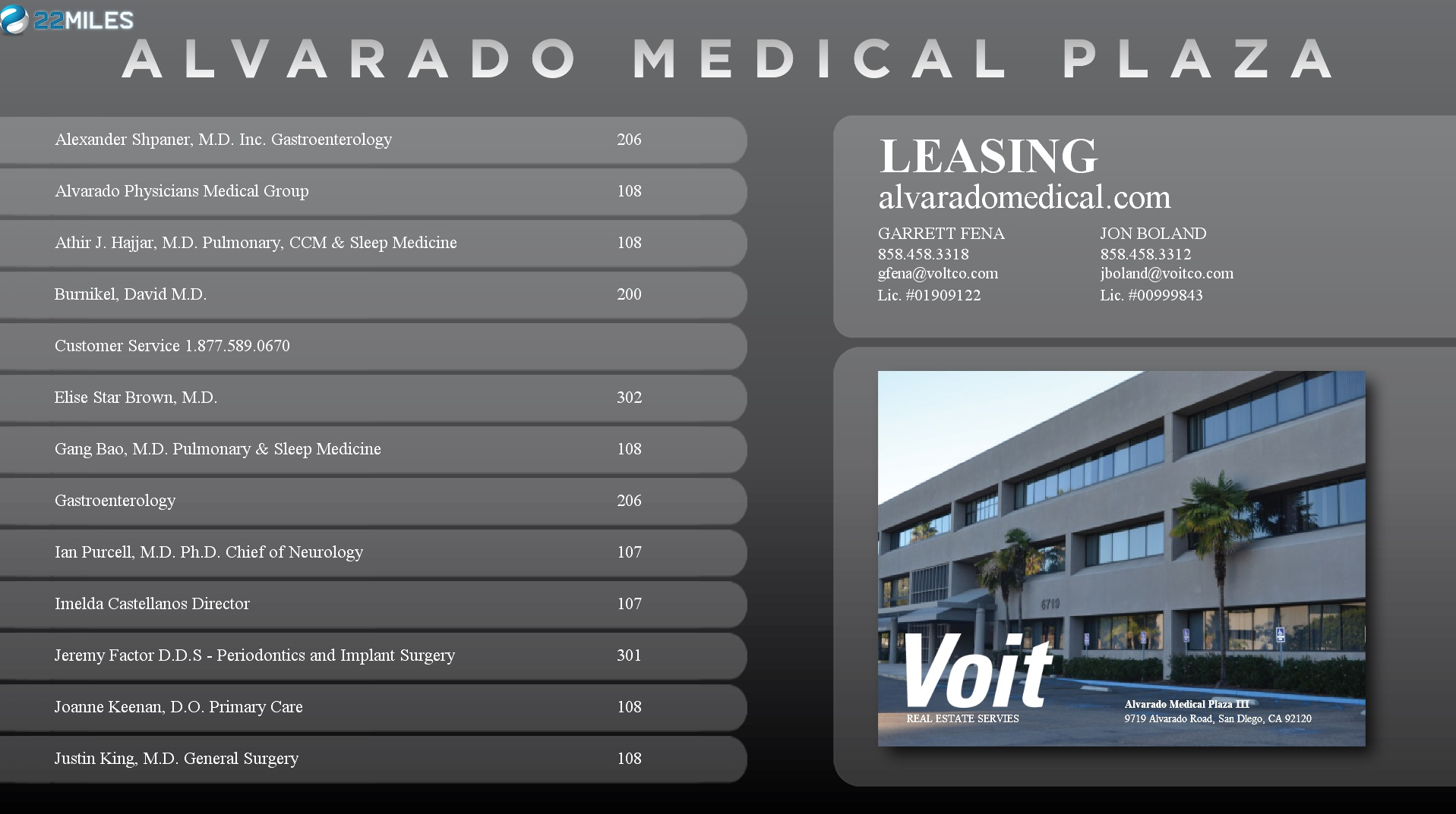 alvarado medical plaza digital signage directory