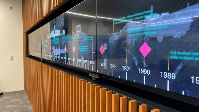 Interactive Video Wall with Sensors