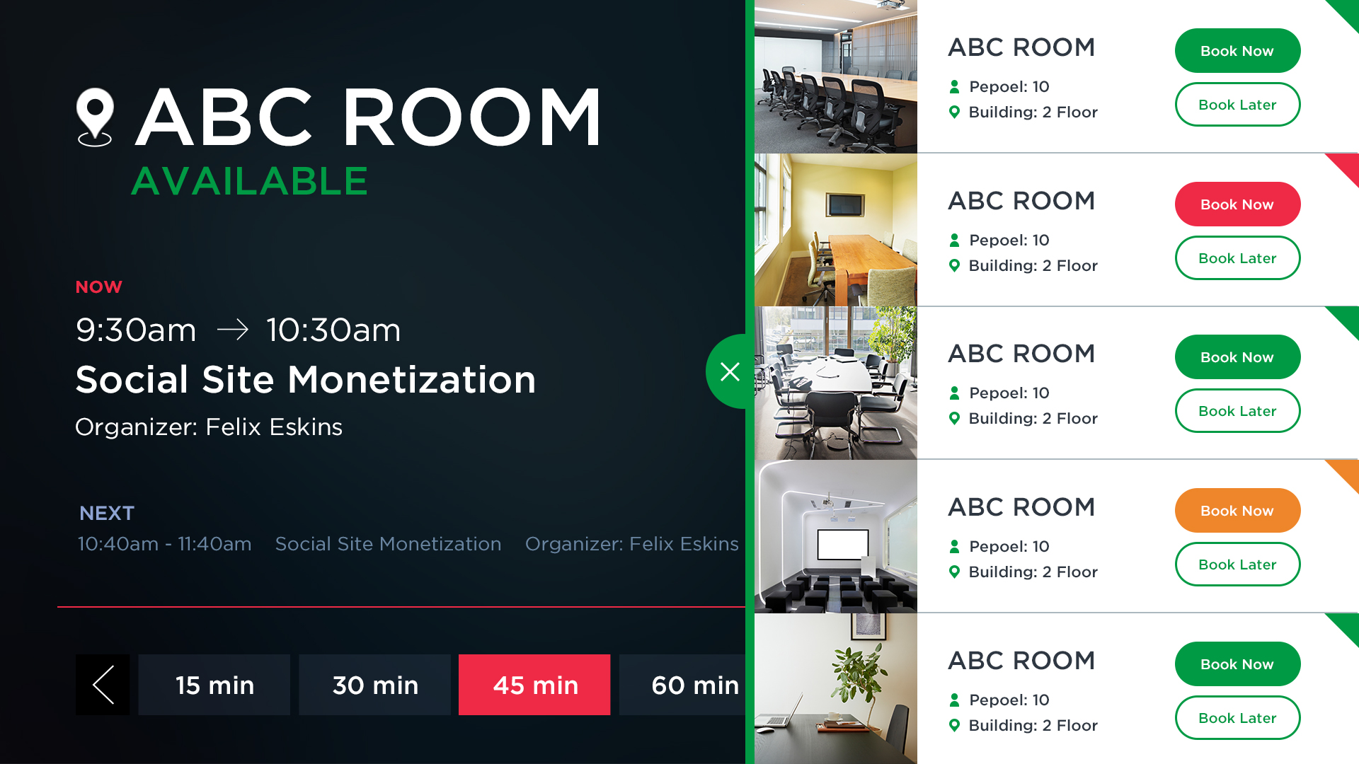 Room Booking Application