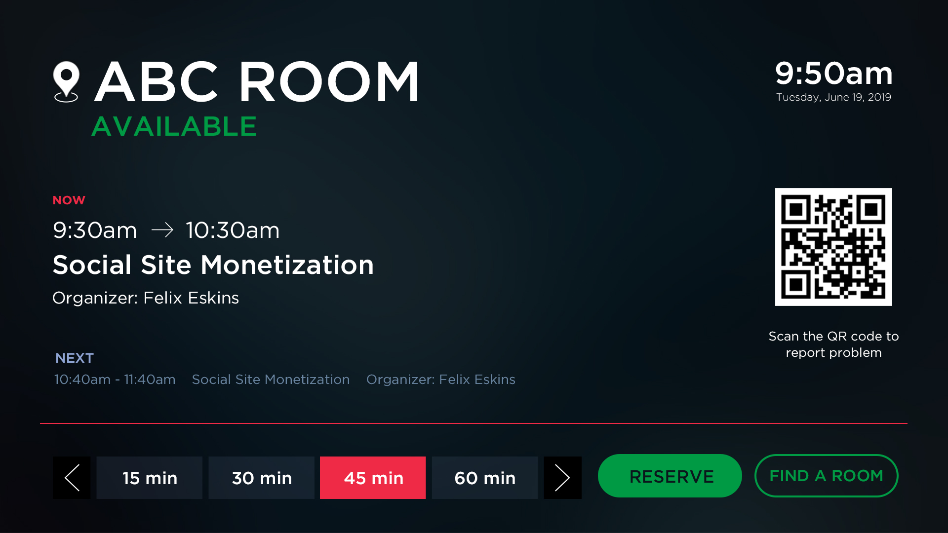 Room Booking Software