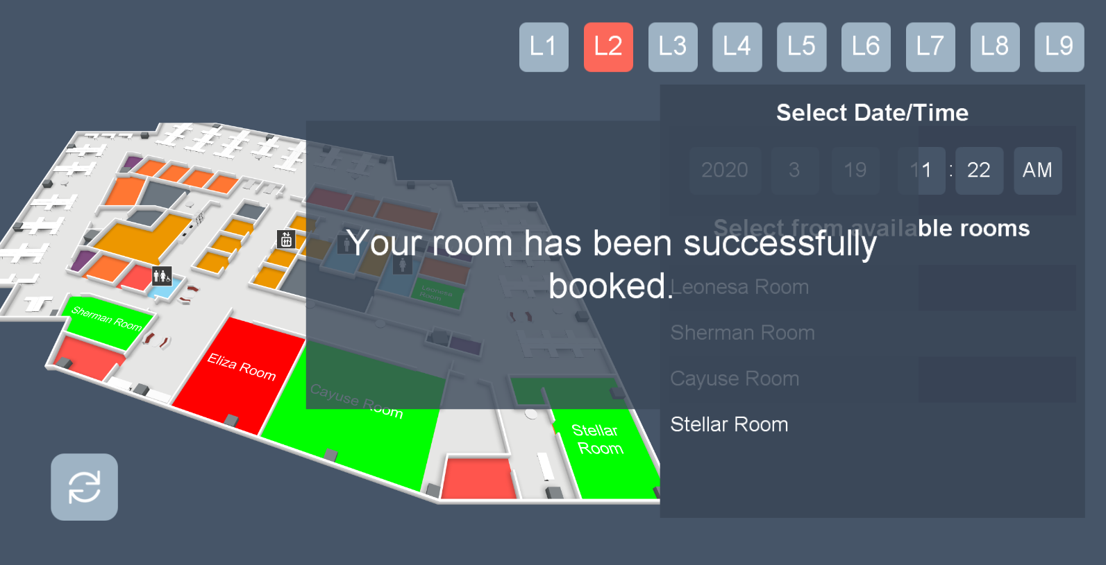 22Miles Room Booking